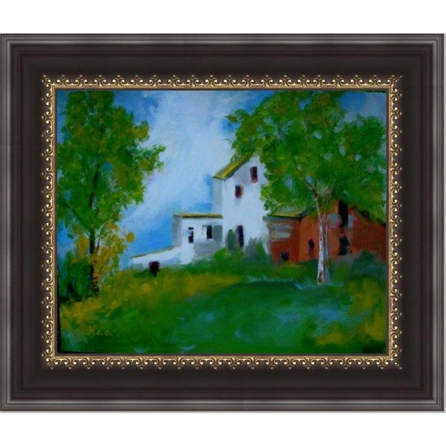 """""""Country Farm"""" Oil Painting Comes Framed For Sale - Image 9 of 12"""