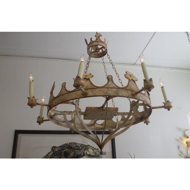Handmade & Hand Painted Crown Chandelier - Image 3 of 6