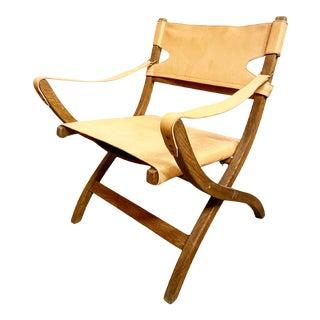 Danish Modern Poul Hundevad 'Campaign' Safari Chair For Sale