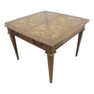 20th Century French Provincial Mastercraft Burl End Table For Sale