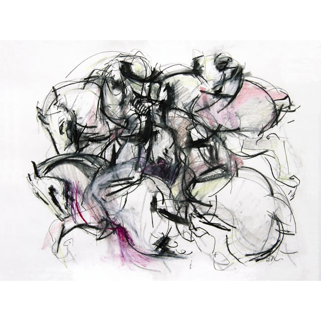 Polo Player #4 Abstract Drawing For Sale