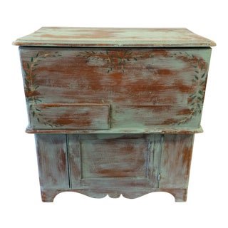 Primitive Hand Crafted Pine Dry Sink Cupboard For Sale
