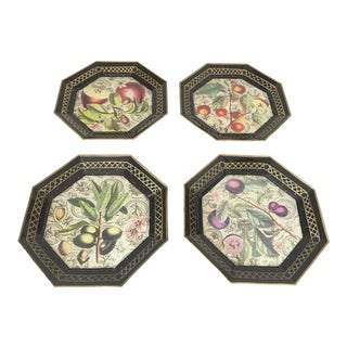 Moonlight Interiors Decoupage Decorative Plates - Set of 4 For Sale