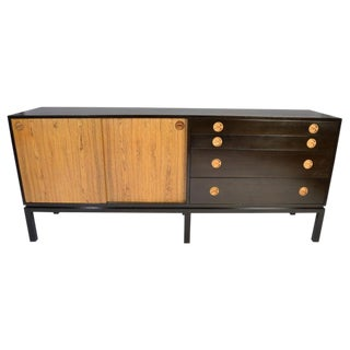 Harvey Probber Rosewood and Mahogany Credenza For Sale