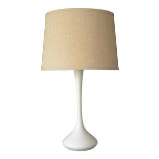 Mid Century Modern Laurel White Genie Table Lamp For Sale