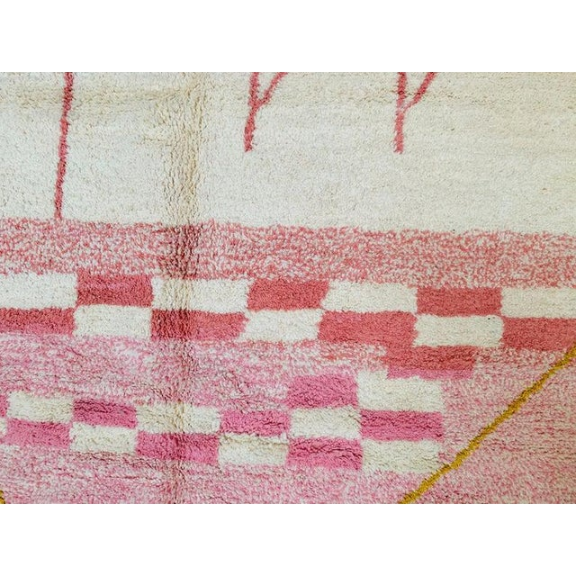Pink Moroccan Rug - 9′10″ × 13′3″ For Sale - Image 10 of 11