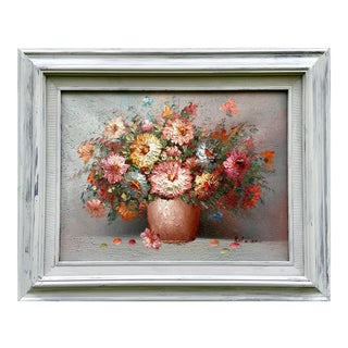 Original Impasto Still Life Oil Painting For Sale