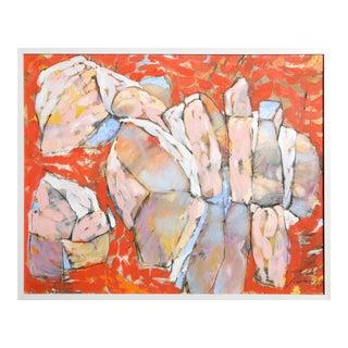 Taste of Cantaloupes, Abstract Painting by Jana Amies
