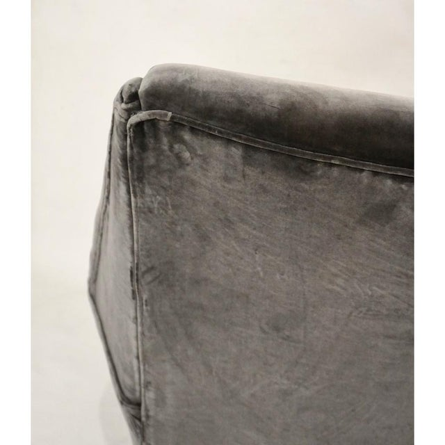 Textile 1950s Gigi Radice for Minotti Italian Vintage Gray Mohair Armchairs - a Pair For Sale - Image 7 of 9
