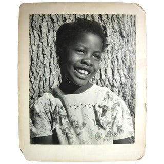 Large Format African American Child Portrait Photograph For Sale