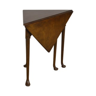 Baker Historic Charleston Collection Mahogany Queen Anne Napkin Table For Sale