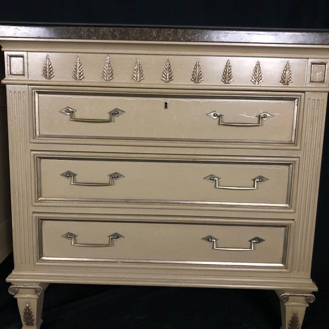 Louis XVI Style Chests or Night Stands -A Pair For Sale In Naples, FL - Image 6 of 13