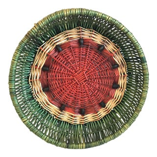 20th Century Country Watermelon Basket Tray For Sale
