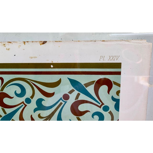 Mediterranean Mid 19th Century Antique Glass Framed Papers For Sale - Image 3 of 7
