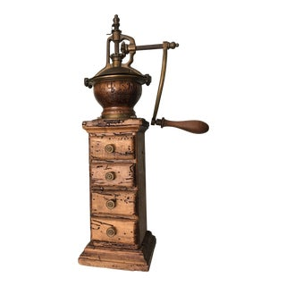 Antique Peugeot Freres Style Italian Coffee Mill Grinder For Sale