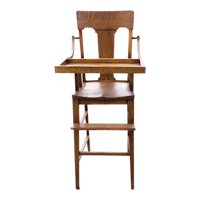 Antique Craftsman Highchair in Oak, C., 1920 For Sale - Antique Craftsman Highchair In Oak, C., 1920 Chairish