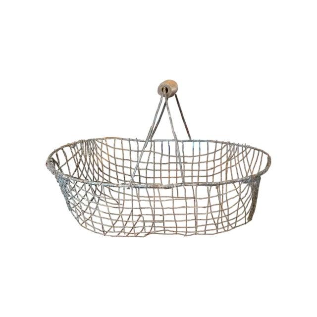 Vintage Iron Basket - Oval - Image 1 of 3