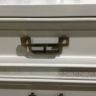 Mid Century Modern Henry Link Newly Lacquered Navajo White Chest of Drawers Preview