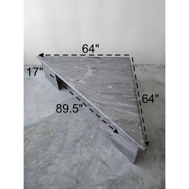 1990s Post Modern Trianglular Coffee Table For Sale - Image 5 of 9