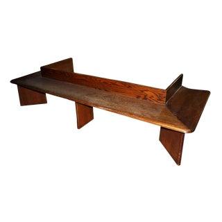 1920s Vintage Oak Arts & Crafts Bench For Sale