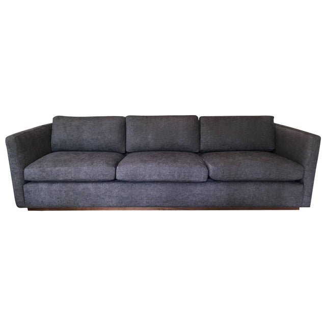 Milo Baughman for Thayer Coggin Tuxedo Sofa For Sale In Philadelphia - Image 6 of 6
