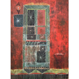 Mid-Century Modern Painting, 1954 For Sale