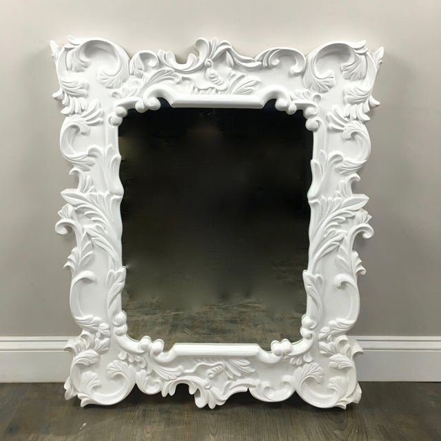 White Wall Mirror by Horchow - Image 2 of 7