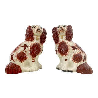 Vintage Staffordshire Spaniels - Pair For Sale