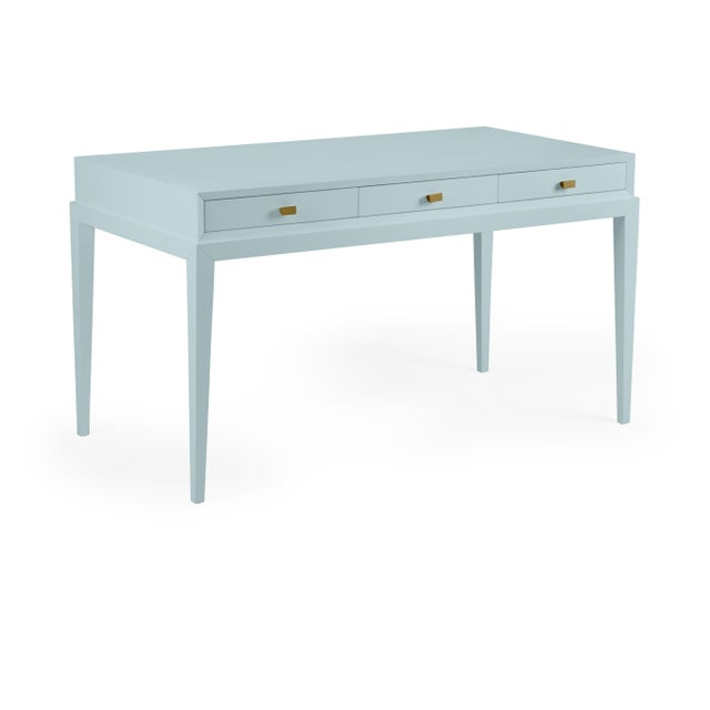 Transitional Casa Cosima Hayes Desk, Smoke For Sale - Image 3 of 3