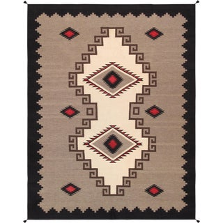"""Pasargad Home Navajo-Style Wool Area Rug- 9' 1"""" X 11'11"""" For Sale"""