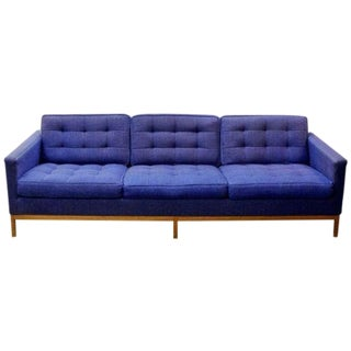 Mid-Century Modern Florence Knoll 3 Seat Lounge Sofa Model 1205 S3 For Sale