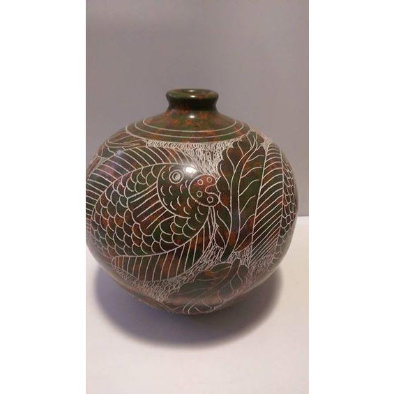 Nicaraguan Artisan Pottery Vase - Image 4 of 7