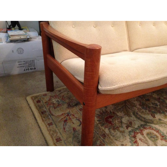Domino Mobler Vintage Danish Modern Teak Loveseat For Sale - Image 4 of 6
