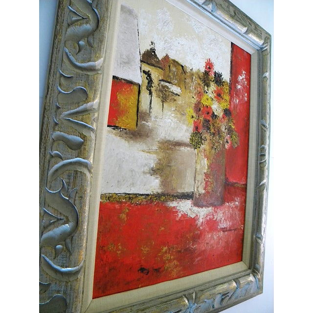 Abstract Expressionism Large Mid-Century Still Life Signed Framed Painting For Sale - Image 3 of 10