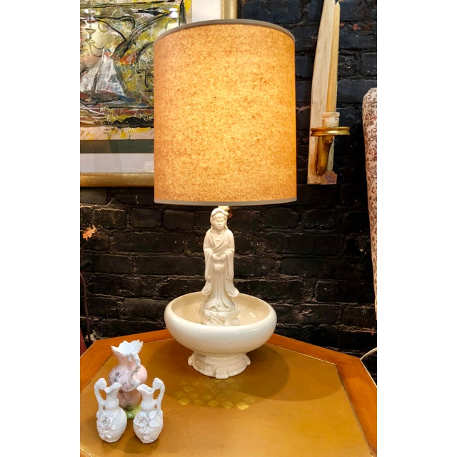 Oriental Porcelain Table Lamp For Sale - Image 4 of 8