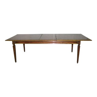 20th Century Traditional Burled Veneer Dining Table For Sale