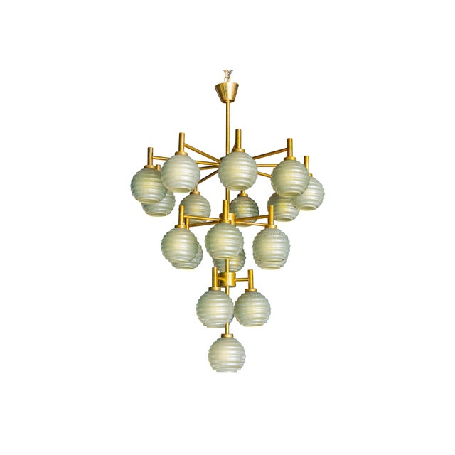 Contemporary Barovier Gray Murano Glass Chandelier For Sale - Image 3 of 3