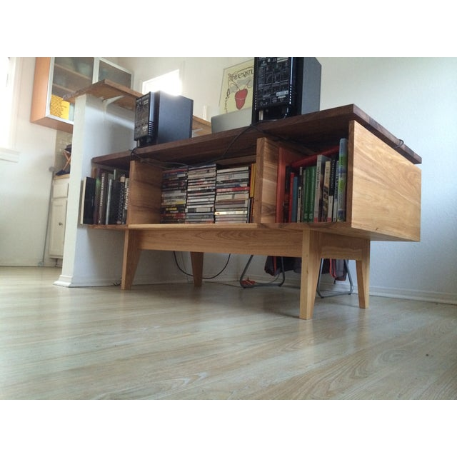 Hand Built Desk With Floating Walnut Top - Image 5 of 9