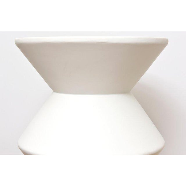 White Pair of Sirmos Plaster of Paris Modernist Sculptural Side Tables/Tables For Sale - Image 8 of 10