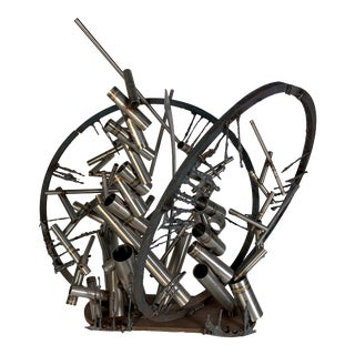 """Welded Steel Sculpture """"Gates"""" by D. Phillips For Sale"""