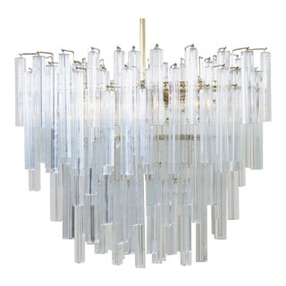 Tiered Oval Prism Chandelier For Sale