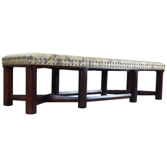 English Hickory Chair Mark Hampton Thomas O'Brein Trestle Bench For Sale - Image 3 of 13