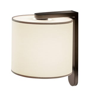 Penny Bronze Wall Light With Cotton Shade For Sale