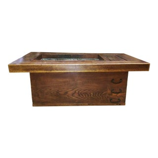 20th Century Asian Wood Hibachi Table For Sale