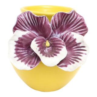 3D Yellow Flower Pansy Vase