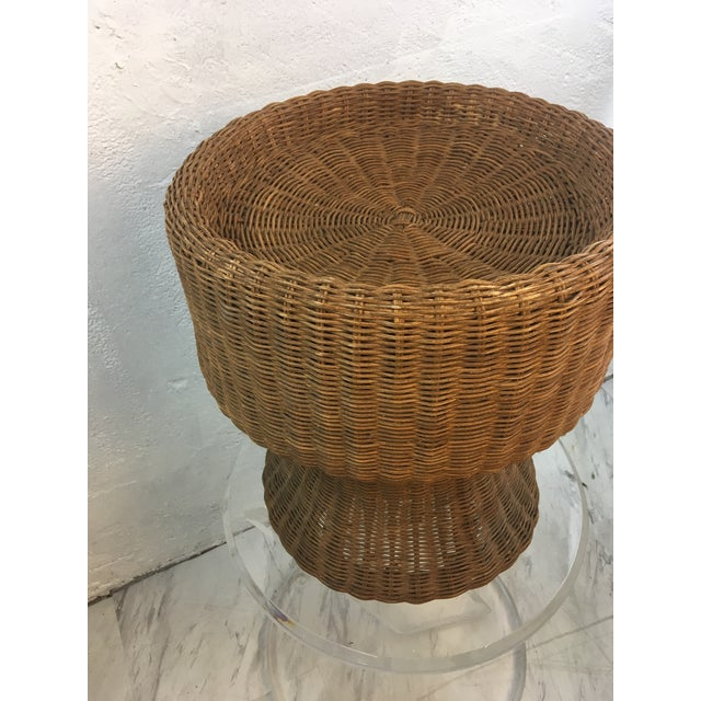 Vintage Wicker Plant Stand For Sale - Image 4 of 7