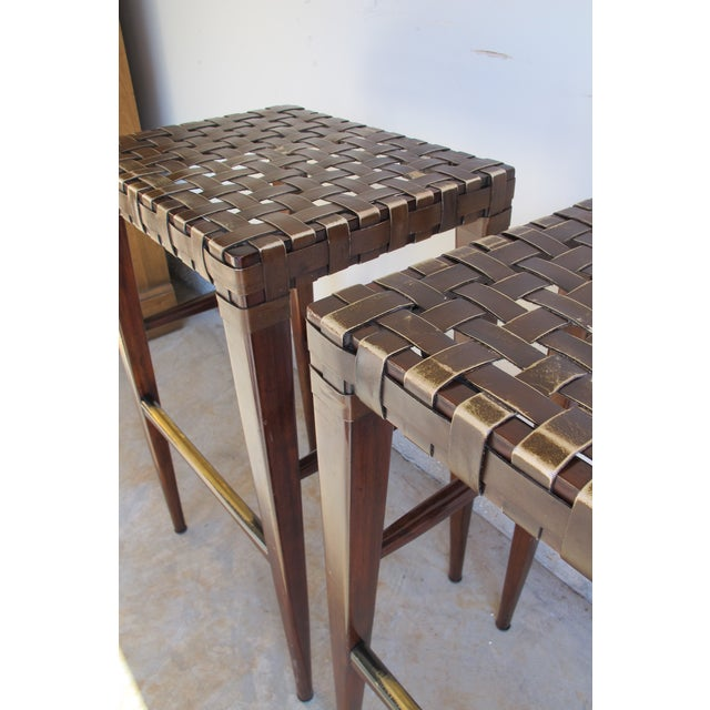 Artistica Milo Backless Barstools -- A Pair For Sale - Image 10 of 10