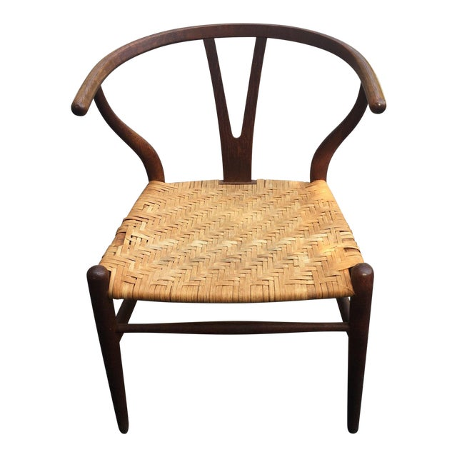 Vintage Hans Wegner Wishbone Chair for Carl Hansen & Son For Sale
