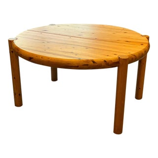 Round or Oval Dining Table With Leaf by Rainer Daumiller, Denmark, 1960s For Sale