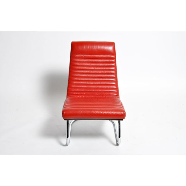 "Bauhaus 1970s ""Tulip Red"" Lounge Chairs - a Pair For Sale - Image 3 of 13"